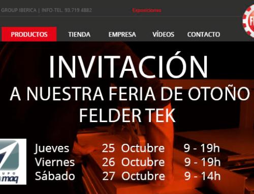 Ibermaq – Felder. Feria de Otoño FELDER TEK. 25-27 de Octubre.